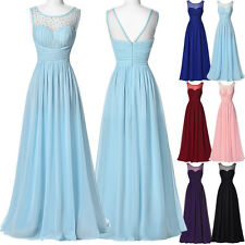 CHEAP Long Chiffon Bridesmaid Formal Party Ball Cocktail Evening Gown Prom Dress