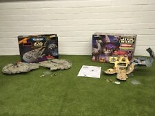 STAR WARS MICRO MACHINES RARE DOUBLE TAKES DEATH STAR OR MILLENIUM FALCON