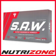 TREC S.A.W. Pre Workout Energy Booster Beta Alanine AAKG Taurine SAW 30-120 Caps