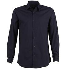 Peter Werth Mens Long Sleeve Shirt - Navy - SLIM FIT - RRP £55 - SALE *BNWT*