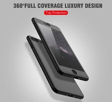 360° Ultrathin Case Cover + Tempered Glass  For iPhone X 10 8 7 6S 5S SE