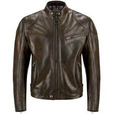 Belstaff Supreme Blouson Black Brown Motorcycle Waxed Leather Jacket | All Sizes