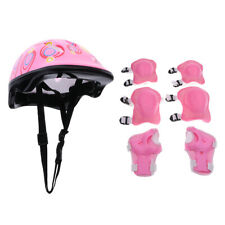 7pcs Kids Bike Skate Scooter Padded Safety Helmet Childrens Knee Elbow Pads Set