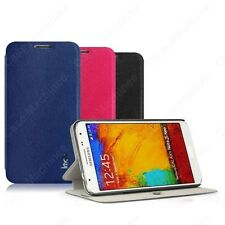 Heartly Imak PULeather Flip Stand Hard Back Case Cover Samsung Galaxy Note 3 Neo