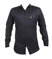 ANX Casuals Long sleeve Blue Colour casual shirt for Men's(Size=L)