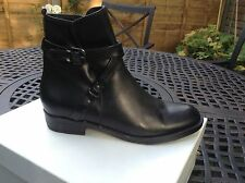 Ankle Boots with straps in black kid leather size 3 (36)