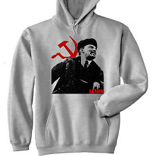VLADIMIR LENIN SOVIET UNION 1 - NEW COTTON GREY HOODIE - ALL SIZES IN STOCK