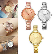 Women Fashion Geneva Stainless Steel Thin Band Analog Quartz Wrist Watch Posh