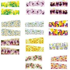 10 Sheet 3D Beauty Nail Art Sticker Water Transfer Decoration Flower Decals Tip