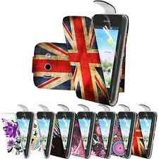 Floral Design PU Leather Flip Case Cover For Huawei Ascend Y300