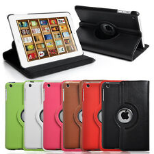 PU Leather 360 Degree Rotating Stand Case Cover for Apple iPad Mini