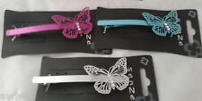 Hair clip with diamante butterfly french clip style new colour choice
