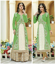 2 Piece Sea Green Straight Silk Kurti / Kurta