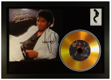 MICHAEL JACKSON THRILLER SIGNED PHOTO AND GOLD DISC PRESENTATION