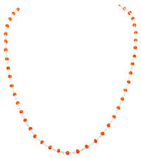 fanta gemstone faceted bead chain in .925 sterling silver-CS1065