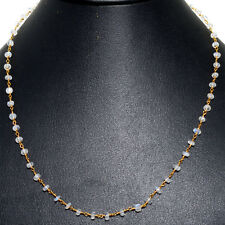 white moonstone faceted bead chain in .925 sterling silver-CS1075