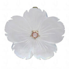 mother of pearl gemstone pendant in .925 sterling silver-SP1072