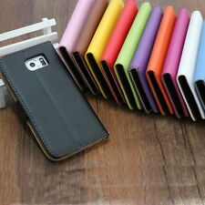 New Card Slot Genuine Real Leather Flip Wallet Phone Case Cover For HTC Series