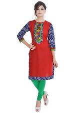 Indian Ethnic Pure Cotton Designer Printed Casual Wear Kurti Kurta VI_2372