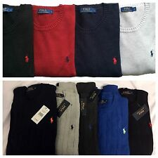 Ralph Lauren Polo Mens PLAIN & CABLE KNIT  JUMPERS FULL SLEEVE FROM £39.95