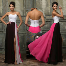 Fashion Masquerade Long Chiffon Dress Wedding Evening Party Prom Cocktail Gown