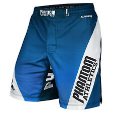 Phantom Athletics Fight Shorts STORM IMMAF Blue/White, MMA BJJ Fitness Shorts