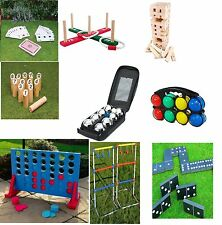 GARDEN LAWN BBQ PARTY GAME GIANT TUMBLE TOWER CONNECT SMITE 4 IN A ROW QUOITS
