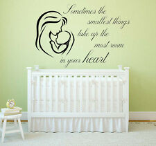 AA Milne, Smallest Things Quote, Wall Art Stickers Decal,Winnie the Pooh Nursery