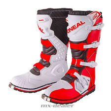 ONeal Rider Motocross Cross Stiefel weiss rot Enduro boot Quad MX Crossstiefel