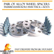 Wheel Spacers 15mm (2) Spacer Kit 5x110 65.1 +Bolts for Saab 9-3X 10-14