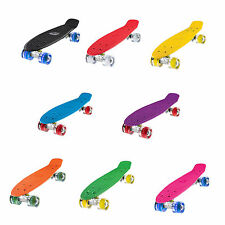 "Ridge 27"" Big Brother Mini Cruiser Skateboard LED Roues Complète 55cm"