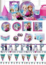 Disney Frozen Birthday Party Tableware Decoration Plates Napkins Cups Supplies