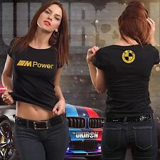 """UKIRON *EXCLUSIVE LIMITED EDITION* """"BMW M POWER"""" Women's Performance T-Shirt tee"""