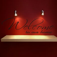 WELCOME HOME motivational wall art sticker quote transfer graphic DAQ3
