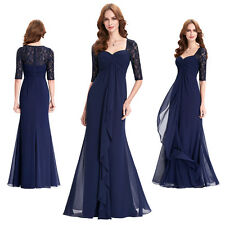 Elegant Ladies Women LACE Long Formal Party Evening Gowns Bridesmaid Prom Dress