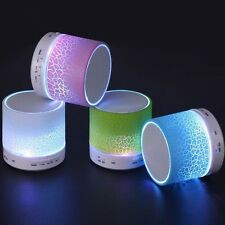 LED Portable Mini Bluetooth Speakers Wireless Hands Free Speaker With TF USB FM