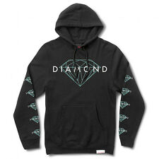 DIAMOND Supply felpa cappuccio Brilliant Pullover nera black hoodie skate