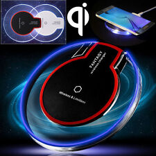 Clear Qi Wireless Charging Pad Fast Charger for Samsung Galaxy S6 S7 S8 iPhone X