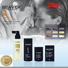 Beaver Keratin Hair Building Fibres Thickening Fibers Hair Loss 3PK MULTIPACK