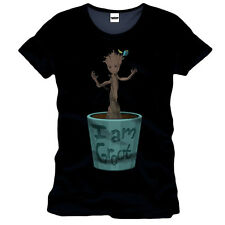 Man T-Shirt Guardians of the Galaxy - Young Groot schwarz Fort Print Baum