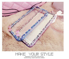 Bumper bling bow transparent hard back cover for iphone 6, 7, 6 plus, 7 plus