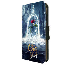 Beauty and the Beast Belle Rose Disney inspired Wallet Flip Phone Case Cover