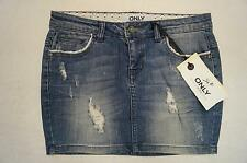 ONLY *Claudi*  Rock / Jeansrock W26, 29  blau *NEU!*