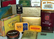 VINTAGE  TOBACCO / CIGARETTE TINS 1960/90 ~ click HERE to browse or order