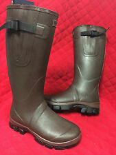 NEW CHOCOLATE NEOPRENE LINED WELLINGTON BOOTS ADULTS SIZE 3-12 UNISEX WELLIES