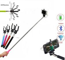 Monopod Selfie Stick Telescopic Wired Remote Mobile Phone holder All Models