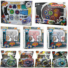 12 Types Beyblade 4D Top Metal Fusion Fight Master Beyblade+Launcher Battle Sets