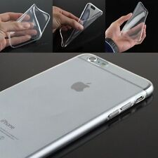 Combo Of Tempered Glass + Soft Transparent Back Cover Case Apple iPhone 4 5 6 7