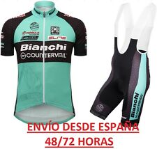 EQUIPACION CICLISMO CONJUNTO BIANCHI COUNTERVAIL MAILLOT CULOTTE MTB  SPINING