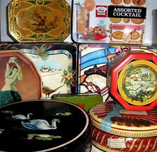 COLLECTABLE VINTAGE BISCUIT TINS 1960/2000 ~ click - SELECT - to browse or order